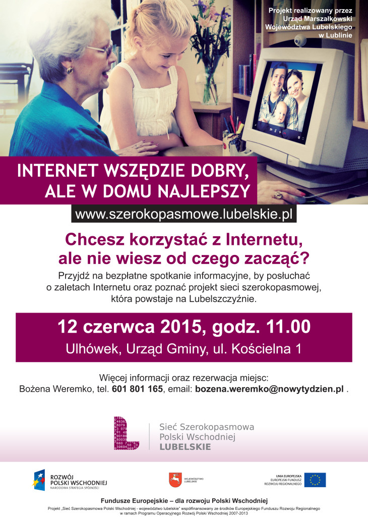 plakat internet szeroko pasmowy ulhowek